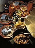 Mexican Buffet Table with Chili Con Carne