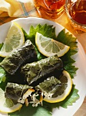 Dolmades; stuffed Wine Leaves