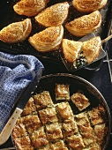Cretan pasties & courgette pie