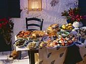 Griechisches Buffet am Abend
