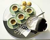 Espresso Tray with Cookies and Sugar Bowl