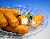 Fish Sticks on Glass Plate