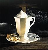 Mug of Coffee with Foam; Cookies