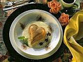 Heart-shaped Chocolate Pudding