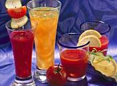 Tomato juice; cucumber and pepper juice