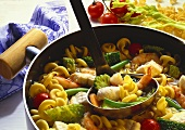 Seafood Stew with Pasta and Vegetables