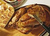 Whole Roast Turkey; Sweet Potatoes with Marshmallows