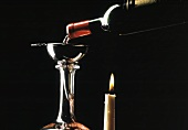 Decanting Red Wine Over A Candle