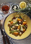 Lamb-Vegetable Stew with Herb Sauce