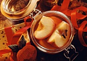 Apples in Calvados to give as a gift