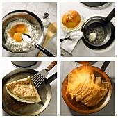 Preparing crepes suzettes