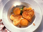 Roasted Semolina Hearts with Apricots