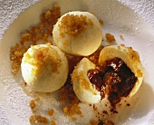Curd Dumplings with Chocolate Stuffing