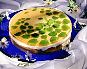 Lemon balm yoghurt gateau