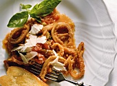 Tripe in tomato herb sauce (Italy)