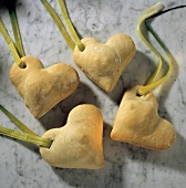 Stuffed Bread Hearts as a Party Snack