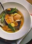 Pot-au-feu with Pike, Perch and Salmon with Vegetables