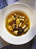 Eel Soup with julienne Vegetables