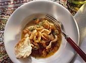 Geschmorte Calamare mit Tomaten