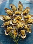Mussels au Gratin with Herbs