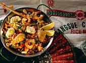 Spanish Paella in a Paella Pan
