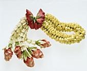 Buddist flower garland for good luck: Thai jasmine garland