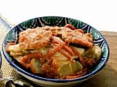 Tumbet de pescado mallorquin (Majorcan fish stew)