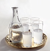 Raki and Carafe of Water