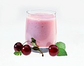 Black Cherry Milkshake with Cherries