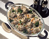 Koenigsberg-style meat balls with crème sauce and capers