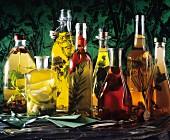 Assorted Homemade Oils and Vinegar