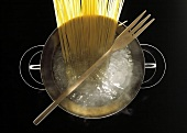 Spaghetti in a Large Pot of Boiling Water