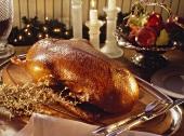 Whole Roast Goose For Christmas Dinner
