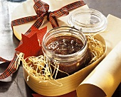 Red Currant Fig Jam in a Christmas Box