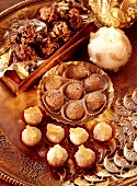 Assorted Christmas Confectionery with Decorations