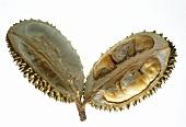 A Durian Split in Half