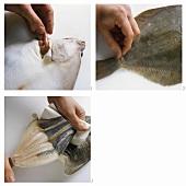 Skinning flat-fish