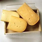 Three Assorted Wedges of Gouda Cheese in a Box