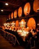 Dinner in a Wine Cellar; Napa Valley; CA