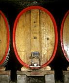 Grosses Holzfaß, im Einsatz vor allem für langlebige Rotweine