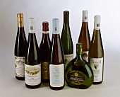 An arrangement of fine German wines and ice wines