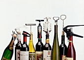 Nine corkscrews