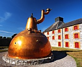 Old copper flask, Midleton Whiskey Distillery, Ireland
