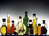 Still Life of Assorted Oils and Vinegar