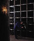 Cellar master Jean Malbec in Château Latour, Médoc, France