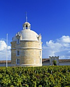 The tower at Château Latour, top wine estate in Médoc, France