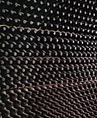 Chianti-Rufina-Flaschen im Keller von Selvapiana, Toskana