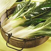 Chard Leaves with a Snail in a Basket