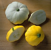Two Squash; One Yellow and One White