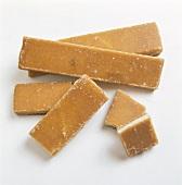Brown Sugar, Streifen und Würfel, aus China